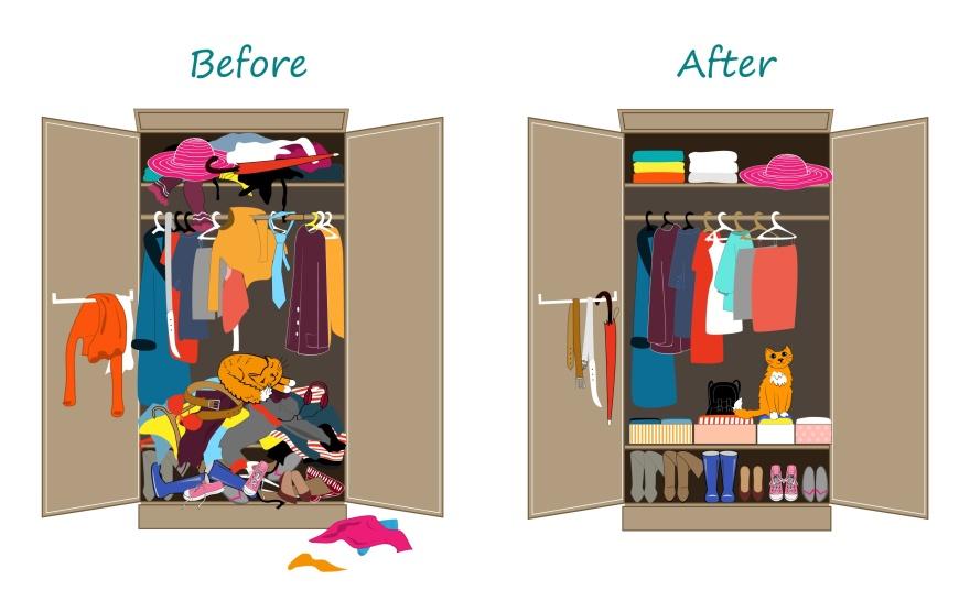 Bästa tipsen hur du får ordning i garderoben.