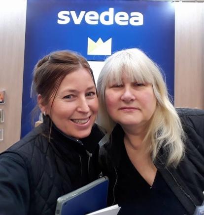Jag och kollegan Ingrid