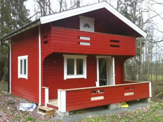 Härbre 25 + 25 m2 + Balkong - Oisolerad