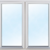 Fritidshus 25 m² + Dubbla Loft - Extra fönster vitmålat 100x100cm 2-lufts 3-glas.
