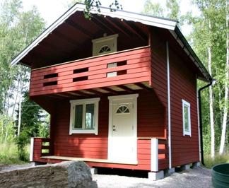 Härbre 18 m² + 18 m² (36m²) + Balkong - Oisolerad