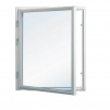 Attefallshus 25 kvm med loft - Extra fönster vitmålat 100x100cm 1-lufts