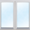 kommer snart!Bastustuga 7 kvm (2,4x2,9m) - Extra fönster vitmålat 100x100cm 2-lufts 3-glas.