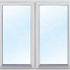 kommer snart!Bastustuga 6 kvm (2,1x2,8m) - Extra fönster vitmålat 100x100cm 2-lufts 3-glas.