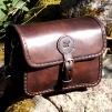 Stor handväska - mörkbrun