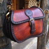Rund handväska