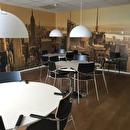 Inrednings/möbleringslayout och textilförslag åt Wohlins Fryshus i Halmstad. Även förslag till kund på golvmaterial i olika utrymmen.Utfört under anställning vid AJ Produkter