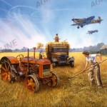 VYKORT FORDSON - BATTLE OF BRITAIN HARVEST