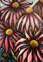 HAPPY FLOWERS 70x100