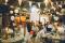 Bröllop i ladan. Runda bord för 40 gäster. Fotograf Louise Johansson, wildstories.se