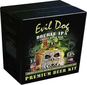 Evil Dog Double IPA Bulldog Brews