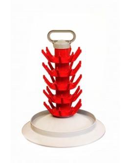 Flaskställ ( Flaskträ ) för 45 flaskor