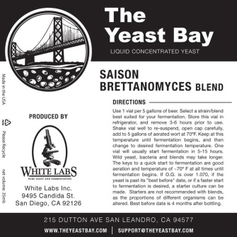 Saison Brettanomyces Blend (The Yeast Bay