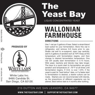 Wallonian Farmhouse (The Yeast Bay) REA 5-12 månader