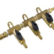 Gasfördelare 3 vägs med övertrycksventil