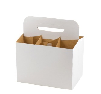 Sexpack för flaskor vit