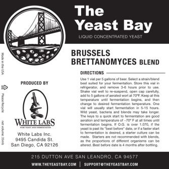 Brussels Brettanomyces Blend - The Yeast Bay