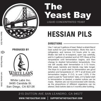 Hessian Pils Yeast Bay
