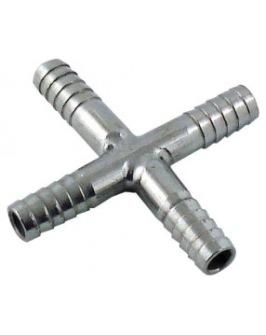 Kors-koppling 1/4 för 6mm slang