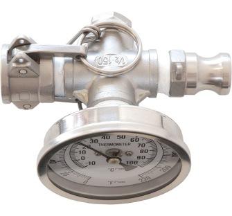 In-line termometer Camlock