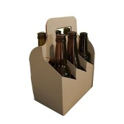 Sexpack för flaskor brun