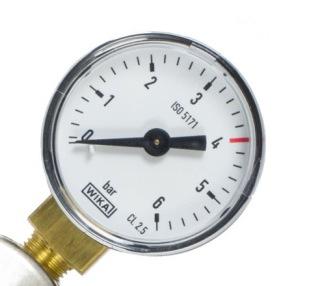 Manometer lågtryck till regulator