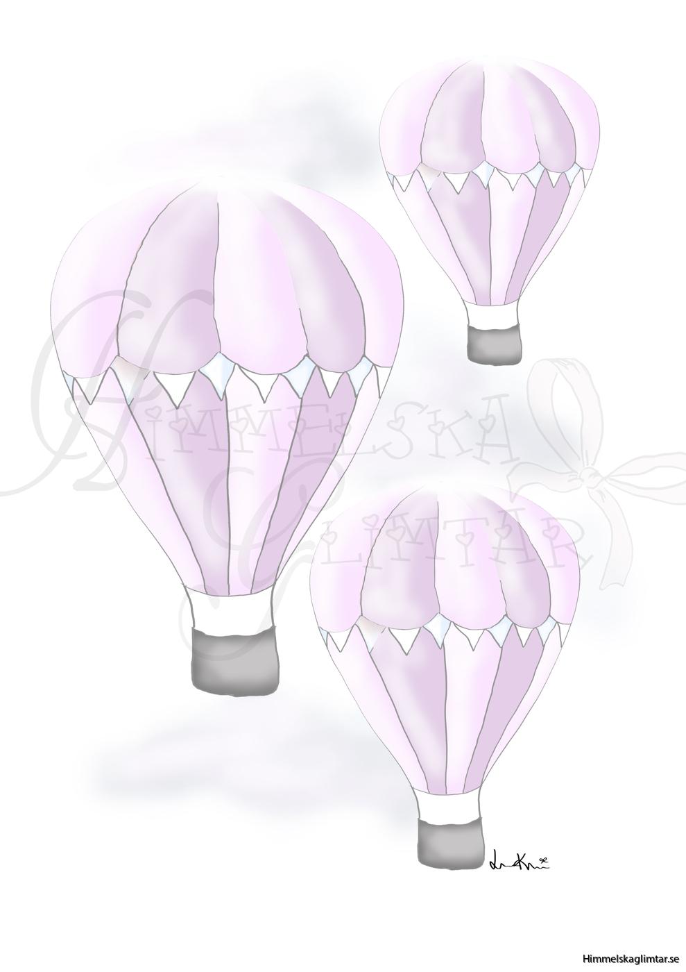 svävandeluftballongerlila