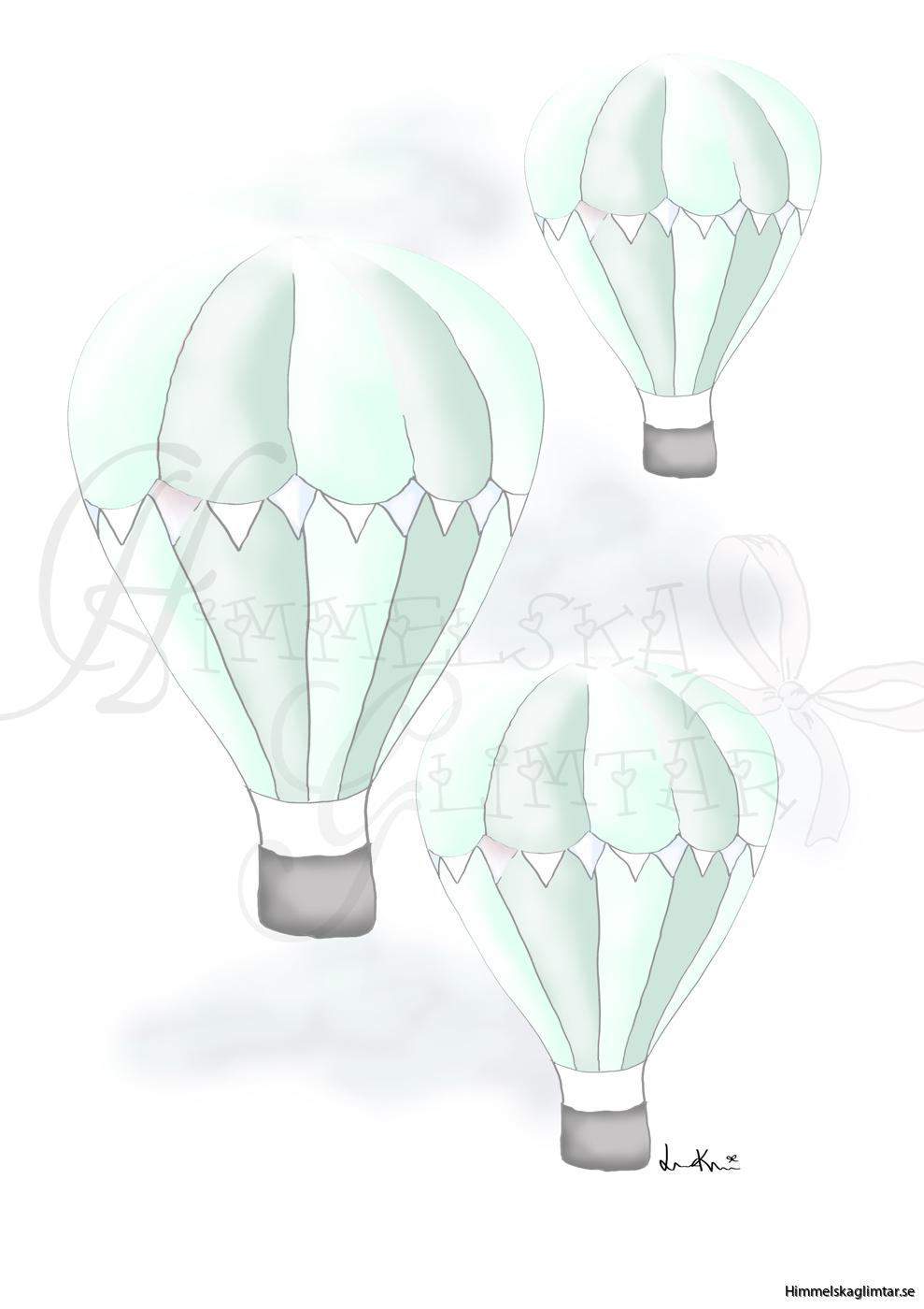 svävandeluftballongermint