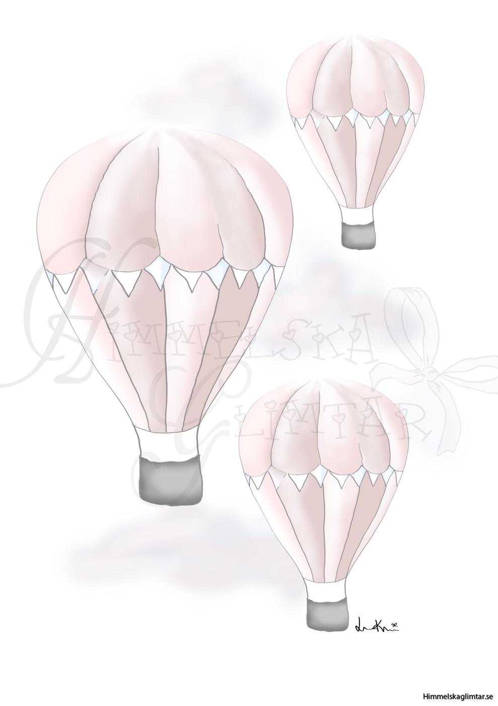 svävandeluftballongerrosa