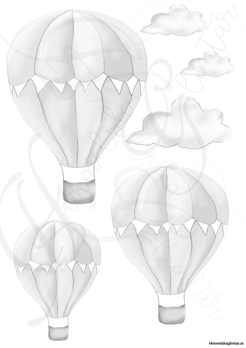 väggdecorluftballongbeigehg