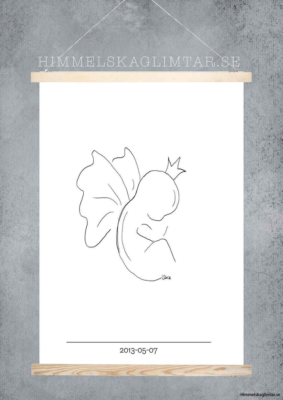 barnrum-barnrumsinredning-poster-himmelskaglimtar-ängel-änglabarn