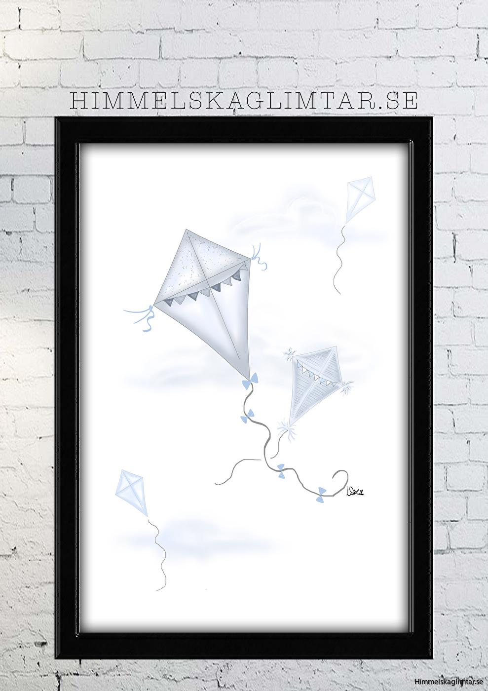 barnrum-barnrumsinredning-barnposter-poster-himmelskaglimtar-pojkrum-flrygande drakar