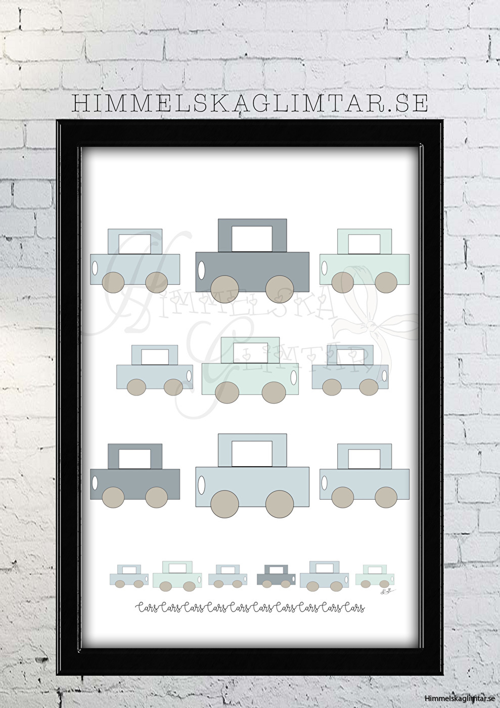barnrum-barnrumsinredning-barnposter-poster-himmelskaglimtar-pojkrum-bil poster-bilar