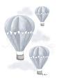 Luftballong - Olika färger - Luftballong- Blå  A3