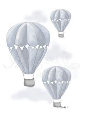 Luftballong - Olika färger - Luftballong- Blå A4