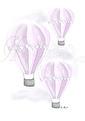 Luftballong - Olika färger - Luftballong- Lila A3