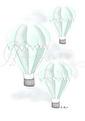 Luftballong - Olika färger - Luftballong- Mint A3