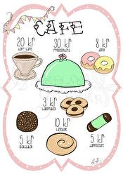 Café - Olika färger - Café rosa A5