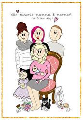 FAMILJEPORTRÄTT - Familjeporträtt A4 (1-5 pers)