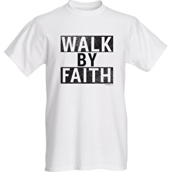 T-shirt Walk By Faith - [T-shirt Walk By Faith Medium