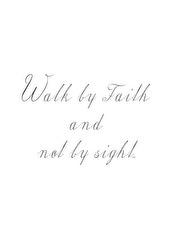 Walk by Faith - Walk by Faith A5