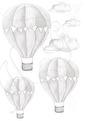 Grå Luftballong - GråLuftballong 3-pack + moln
