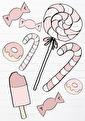Candy Väggstickers - Olika färger