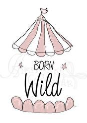Born Wild - Olika färger - Born Wild- gammelrosa A5