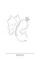 Himlens lilla ängel - Lilla ängel rosa  A3