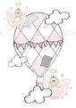 HimmelskLuftballong - Luftballong gammelrosa A3