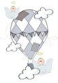 HimmelskLuftballong - Luftballong puderblå A3