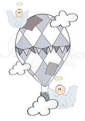 HimmelskLuftballong - Luftballong puderblå A5
