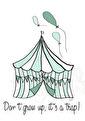 Cirkustrap - Olika färger - Cirkus - mint A3