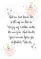 Gud som haver, ängel - Gud som haver ängel, ljusrosa A3